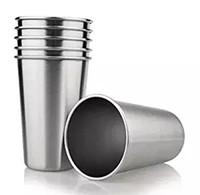 4pcs-Pack 16oz الفولاذ المقاوم للصدأ أكواب الشرب للأطفال الغذاء الصف أكواب المياه 16 أوقية باينت متعددة الأغراض بهلوان 500 ملليلتر حليب البيرة كوب
