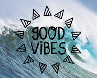 English Letters Good Vibes Wall Decal Wallpapers Wall Sticke...