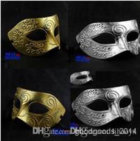 Halloween masques de fête de Noël masques de mascarade d'argent de guerriers gréco-romains pour hommes Or argent bicolore options c158