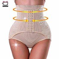 High Waist Trainer Tummy Control Panties Butt Lifter Body Shaper Gorsety Hip Brzuch Enhancer Shapewear Bielizna Haczyki