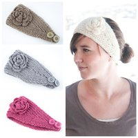 M MISM Classic Knitting Flower Hair Band Winter Warm Turban ...