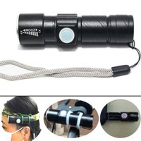 Mini LED Flashlight Adjustable Focus Zoom 3 Modes Mini USB F...