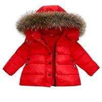 أطفال داون معاطف وجاكيتات الربيع في فصل الشتاء سترة للبنات الأولاد ملابس الاطفال الأحمر معطف ملابس الطفل فتاة ستر