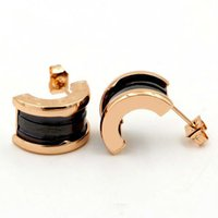 Best Titanium Steel Ceramics Studs For Women 18k Gold Rose G...