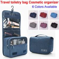Alta qualidade de viagem saco de higiene pessoal sacos de maquiagem com gancho de suspensão saco de lavagem do banheiro à prova d 'água grande capacidade organizador sacos de cosméticos de moda