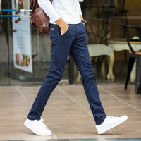 LSWM402 men' s Casual pants spring and autumn elastic co...