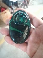 Hermoso colorido tubo de cristal Marca laboratorios Pebble Cuchara calidad protable de tabaco ajeno vidrio tubo que fuma hierba seca