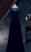 البحرية الأزرق فساتين bridemaid الرباط الأعلى الشيفون تنورة رخيصة فساتين العروسة مثير منخفضة الظهر الدانتيل احتياطي xwj009
