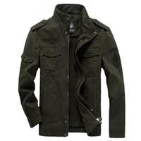 Jaquetas dos homens do exército jaqueta jaqueta jaqueta de jaqueta de outono outono casaco de inverno outwear algodão bordado tático cargas piloto masculino 6xl