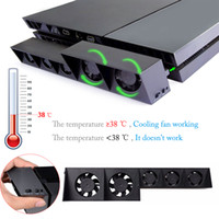 PS4 USB Cooling Fan Cooler External Turbo Temperature Contro...