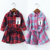 Baby Clothes 2018 New Baby Girls Dresses Long Sleeve Grid Wa...