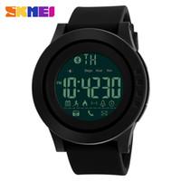 Skmei marca de saúde dos homens do esporte smart watch pedômetro bluetooth smartwatch lembrete digital relógios de pulso para ios e android produto
