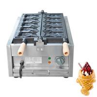 elektrikli dondurma Taiyaki makinesi waffle makinesi ticari balık şekli Taiyaki yapıcı makinesi fiyatı bisküvi