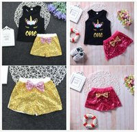 Unicorn Ins Baby Clothing Sets Sleeveless Vest Short Pants 2...