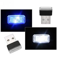 MINI USB Araç Atmosfer Işıklar LED Çakmak Dekoratif Işıklar Lamba