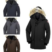 Canada Men' s Brand Solid Color Parker Coat Down Jacket ...