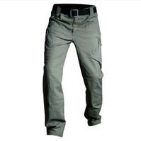 IX7 IX9 тактические брюки военные грузовые брюки мужчины повседневная брюки брюки рабочие брюки армия стиль Pantalon черный тонкий боевой мешковатые брюки