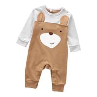Baby Romper Newborn Baby Boys Boyper Girls Playsuits Хлопок с длинным рукавом животных Детская одежда Младенческая пижама нижнее белье 0-12 м