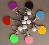 promotiom جديد 7 لون الرياضة بينغ بونغ تنس الطاولة كرة الريشة البولينج الكرة سلسلة المفاتيح مفتاح سلسلة كيرينغ مفتاح الدائري تذكارية هدية