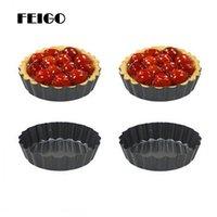 FEIGO 4-дюймовый шифон торт плесень углеродистая сталь съемный Нижний пирог с заварным кремом круглый торт плесень Пан DIY выпечки кухонные гаджеты F536