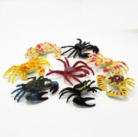New Cute Mixed Mini Crab Style Simulado Kids Toys Home Party Regalos divertidos Decoración Envío Gratis