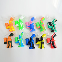 Silicone Bong Mini Silicone Dab Rig Water Pipes Bong 3. 85 in...