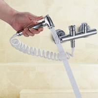 Биде смесители высокого давления биде душ туалет ручной латунь биде краны набор ванная комната душ клапан холодной и горячей биде