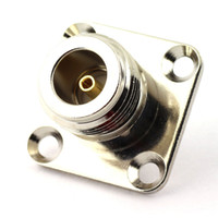 N Female 4 Holes Panel Mount Solder Cup Post Plug Connector RF Coax Coaxial Adapter N Type Female Jack Connector