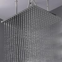 304 스테인레스 스틸 폴란드어있는 샤워기을 천장은 600x600mm 큰 물 샤워 헤드 욕실 샤워 광장 오버 헤드를 장착