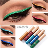 2018 heißer wasserdichter Shimmer Eyeshadow Glitter Liquid Eyeliner Metallic Make Up