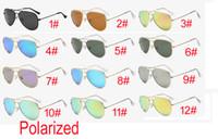 Yaz adam Moda Dazzle renk polarize güneş gözlüğü kadın bisiklet gözlük Spor unisex gözlük plaj sürüş Güneş Gözlüğü 12 ÜCRETSIZ KARGO