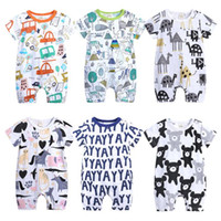 Baby Rompers Summer Style Animal Cotton Jumpsuit Baby Boy Gi...