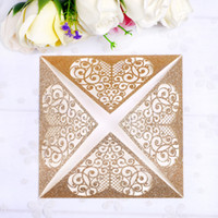 2019 Gorgeous Square Gold Glitter 4 petals Wedding Birthday ...