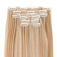 VERVES 6 pcs 16 Clips- in Synthetic Hair with Clip Hair Exten...
