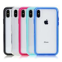 Para iPhone 11 Pro Max Funda transparente a prueba de golpes PC Hard Thone Borrar Thone Funda trasera para iPhone XR XS 6 7 8 Plus para S20