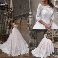 2019 Crystal Design Country Wedding Dresses With Lace Jacket...