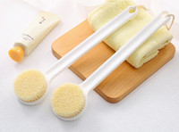 Cepillo de baño para cepillado de piel seca con material flexible suave y dúctil de PBT un cuerpo largo que exfoliante