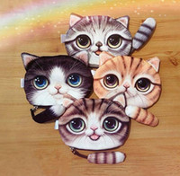Children Cute Cat Face Tail Coin Purse Kids Wallet Bag Change Pouch Key Holder