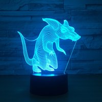 3D light Fox Lamp LED Nightlights with Touch Table Lamp as C...
