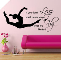 Removable Leap Fly Girl Bedroom Decal Gymnastic Vinyl Wall S...