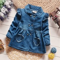Cola Girls Denim Jackets Lovely Heart Protect Dot Baby Outer...