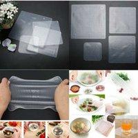 4 قطع متعددة الوظائف حفظ الأغذية الطازجة ساران التفاف أدوات المطبخ reusable سيليكون الغذاء الأغطية ختم فراغ غطاء غطاء تمتد
