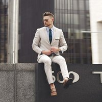 Slim Men Khaki Suits for Wedding Tuxedos Prom Wear Groomsman...