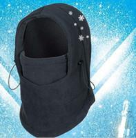 Invierno máscaras termal caliente grueso pasamontañas sombrero cycling capsula capó deportes motocicleta prueba de viento Esquí táctico Cs máscara de cara completa