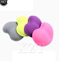 최신 3D 손목 나머지 실리카 젤 핸드 베개 메모리 면화 마우스 패드 심장 - 모양의 편안한 마우스 패드