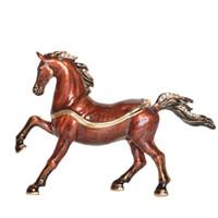 Presentes Cavalo árabe esmaltado Pewter Jeweled Porta Treco cavalo Estatueta
