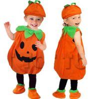 لطيف الأطفال طفل هالوين تأثيري الملابس يتوهم الكرة نمط أداء زي أكمام كيد الطفل اليقطين بدلة اللباس