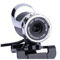 Plus récent USB Webcam 12 mégapixels caméra haute définition Web Cam 360 degrés MIC clipser Skype ordinateur