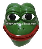 Realistic Funny Cartoon Latex Frog Mask for Adult Party Dres...
