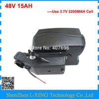 Freier Zoll 750W 48V 15AH Lithium-Batterie 48Volt Ebike Batterie Verwendung 3,7V 2200mAh Zelle 20A BMS mit 54.6V 2A Ladegerät
